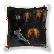 Salukis No 03 Throw Pillow