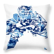 Salvador Perez Kansas City Royals Pixel Art 1 Throw Pillow
