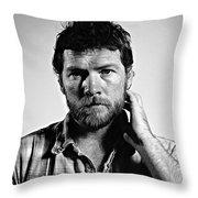 Sam Worthington Throw Pillow
