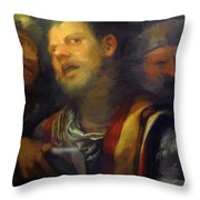 Samson Captured By The Philistines Throw Pillow