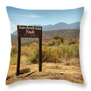 San Andreas Fault Throw Pillow