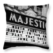 San Antonio Majestic Theatre Throw Pillow