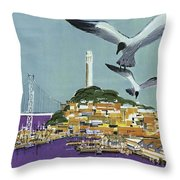 San Francisco American Airlines Throw Pillow