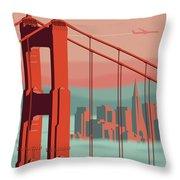 San Francisco Poster - Vintage Travel Throw Pillow