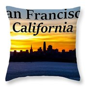 San Francisco Sunrise 2x3 Throw Pillow