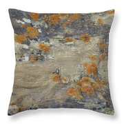 Sand, Charcoal, And Rust Throw Pillow