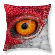 Sandhill Crane Eye Throw Pillow