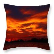 Fire In The Sandusky Sky Throw Pillow