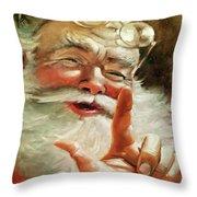 Santa 2017 Throw Pillow