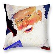 Santa Knows Throw Pillow