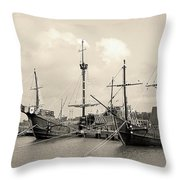 Santa Maria - Pinta - Nina Throw Pillow