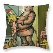 Santa Toys Throw Pillow