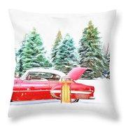 Santa's Other Sleigh Throw Pillow