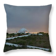 Santuario De Nossa Senhora Da Piedade Welcoming Twilight In Loule Throw Pillow