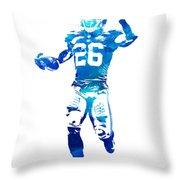 Saquon Barkley New York Giants Water Color Pixel Art 10 Throw Pillow