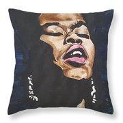 Sarah Vaughan Throw Pillow