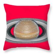 Saturnian Image 2 Throw Pillow