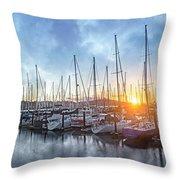 Sausalito California Morning Airs Throw Pillow