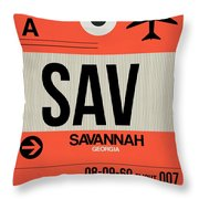 Sav Savannah Luggage Tag I Throw Pillow
