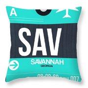 Sav Savannah Luggage Tag II Throw Pillow