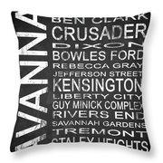 Savannah Ga 4 Throw Pillow