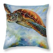 Save The Turtles Throw Pillow
