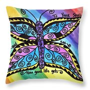 Say Yes To Your Soul Throw Pillow