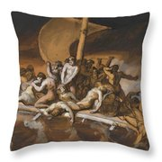 Scene Of Cannibalism For The Raft Of The Medusa Throw Pillow