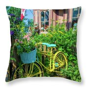Scenic Garden And Antiques Store Throw Pillow
