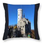 Schloss Lichtenstein Throw Pillow