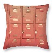 School Lockers Throw Pillow