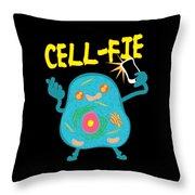 Science Nerd Shirt Cellfie Dad Joke Throw Pillow