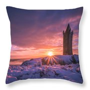 Scrabo Winter Sunrise Throw Pillow