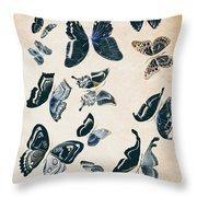 Scrapbook Butterflies Throw Pillow