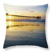 Scripps Pier Golden Hour 1 Throw Pillow