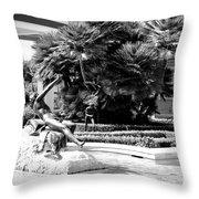 Sculpture Getty Villa Black White  Throw Pillow