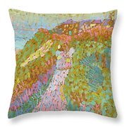 Sea And Dunes In Domburg Throw Pillow