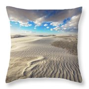 Sea Of Sand - Endless Dunes At White Sands New Mexico Throw Pillow