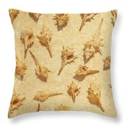 Sea Shell Scroll Throw Pillow