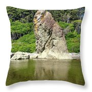 Sea Stack At Ruby Beach  Throw Pillow