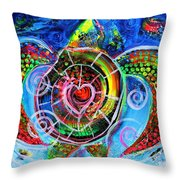 Sea Turtle Conservation 1 Throw Pillow