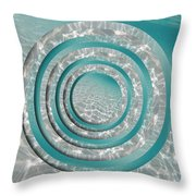 Seabed Circles Throw Pillow