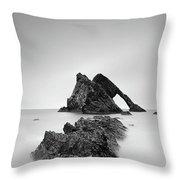 Seascape Rocks - Bow Fiddle Throw Pillow