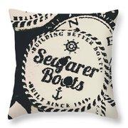 Seaside Sailors Badge Throw Pillow