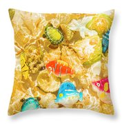 Seaside Simulation Throw Pillow