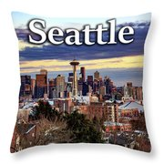 Seattle From Kerry Park Throw Pillow