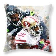 Seattle Seahawks Against San Francisco 49ers Throw Pillow