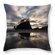Second Beach Seastack Clarity Throw Pillow