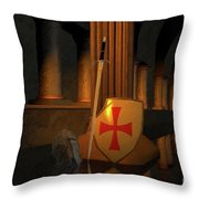 Secret Of The Knights Templar Throw Pillow