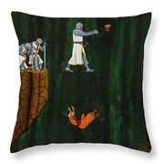 Securing The Holy Grail Throw Pillow